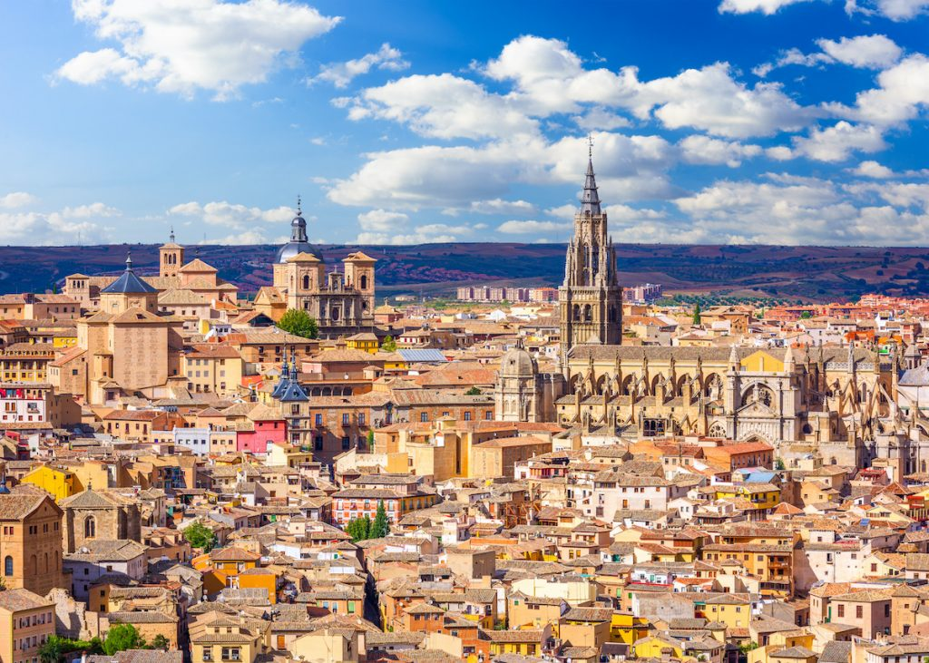 toledo spain skyline on a sunny day